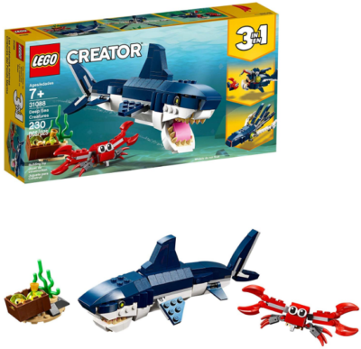 This is an image of kid's LEGO Deep Sea Creatures building kit