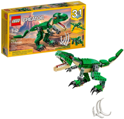 This is an image of kid's LEGO Dinosaurs building kit