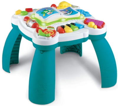 This is an image of babie's musical table in blue color