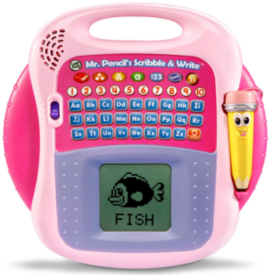 This is an image of kid's scriblle write in pink color