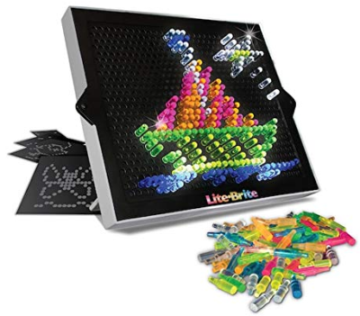 This is an image of girl's lite brite classic toy, multi-colors
