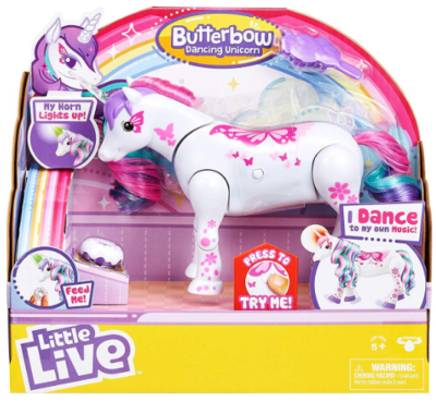 This is an image of Unicorn pet by Little Live Pets in white and pink colors