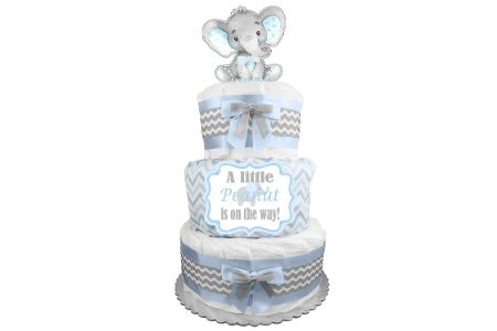 This is the image of little peanut diaper cake for boys