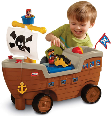 This is an image of kid's pirate ship toy in colorful colors