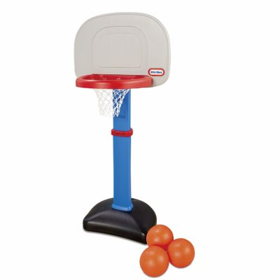 This is an image of a basketball hoot with 3 balls for toddlers by Little Tikes.