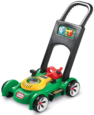 This is an image of toddler's push toy mower in Multi colors