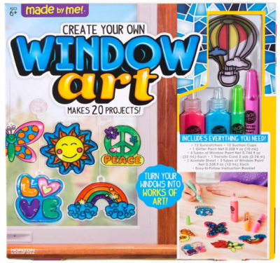 This is an image of girl's Window art craft