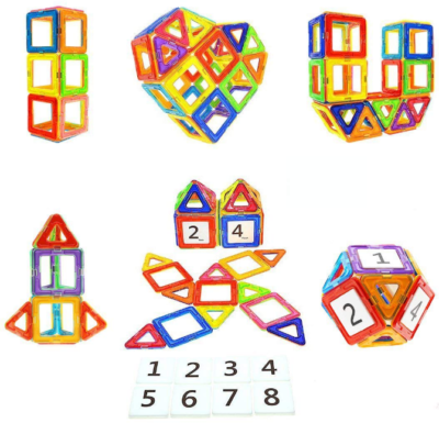 This is an image of kid's Magnetic blocks STEM in colorful colors
