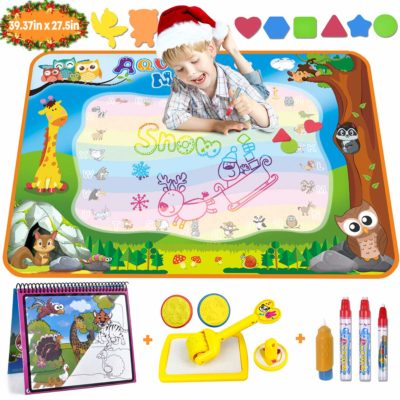 This is an image of a water drawing mat for toddler.