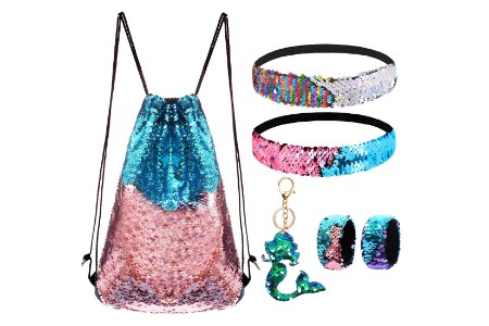 This is the image of Sequin Backpack for Girls