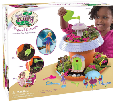 This is an image of girl's Fairy Garden cottage