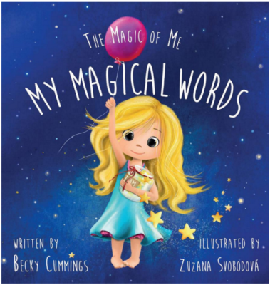 This is an image of girl's my magical words book