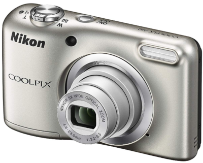 This is an image of teen's nikon COOLPIX in silver color