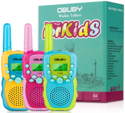 This is an image of girl's walkie talkies pack in colorful colors