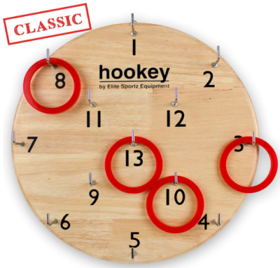 This is an image of kid's wooden hookey games by elite sportz equipment