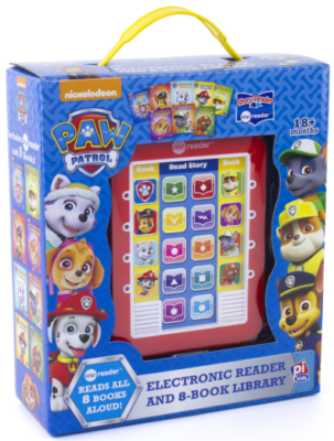 This is an image of paw patrol electronic reader book in red color