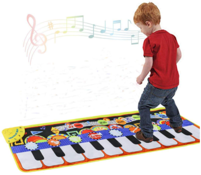 This is an image of toddler's piano music mat