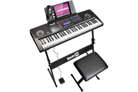 This is the image of Reditmo Electric Organ, Microphone and Stool