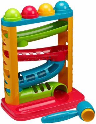 This is an image of a multi color pounding toy for babies by Playkidz.