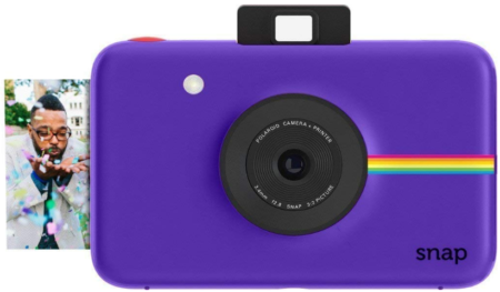 This is an image of Teen's polaroid snap instant in purple color
