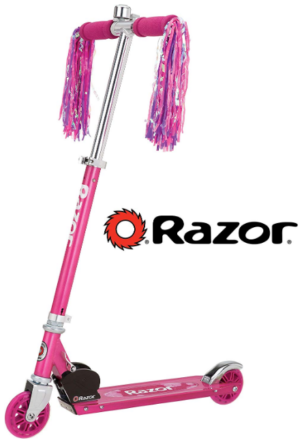 This is an image of kid's Razor Scooter in pink color