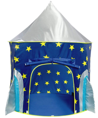 This is an image of kid's rocket ship tent