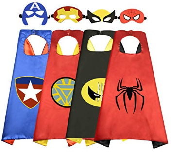 This is an image of kid's Cartoon superhero pack in colorful colors