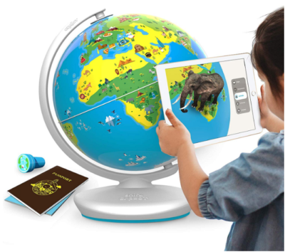 This is an image of kid's interactive globe in white color