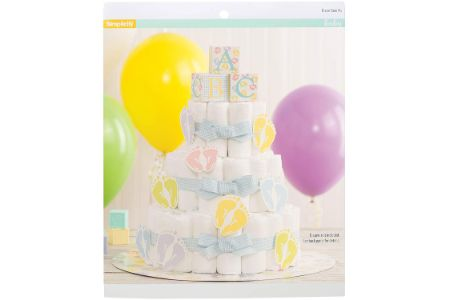 This is the image of simplicity diaper cake for boys