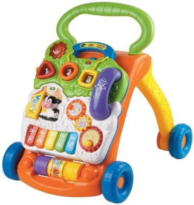 This is an image of kid's learning walker in colorful colors