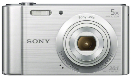 This is an image of teen's Sony Digital camera 20 MP in silver color