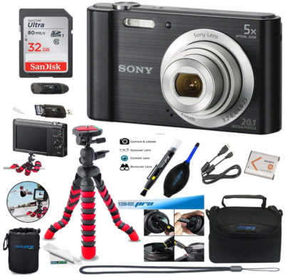 This is an image of teen's sony W800 digital camera set in black color