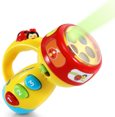 This is an image of toddler's flashlight toy in colorful colors
