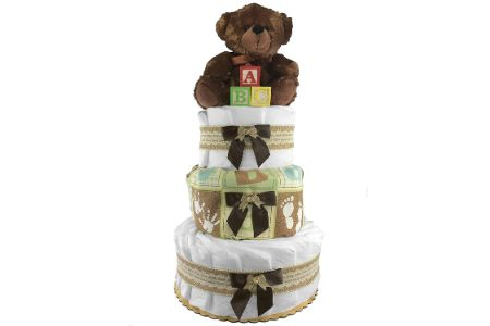 This is the image of sunshine diaper cake for boys