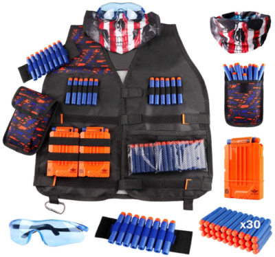 This is an image of kid's Nerf guns vest kit