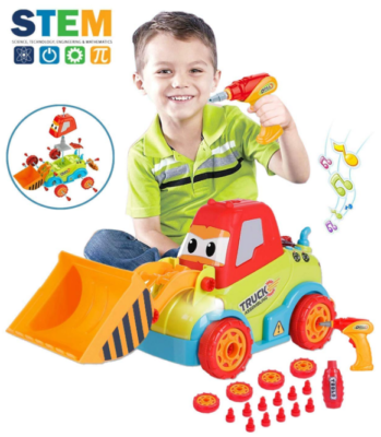 This is an image of kid's take apart toys truck in colorful colors