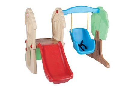 This is the image of Toddler Swing Set and Slide for kids