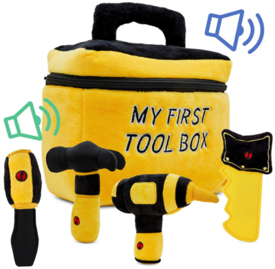 This is an image of todder's tool toy set in yellow color