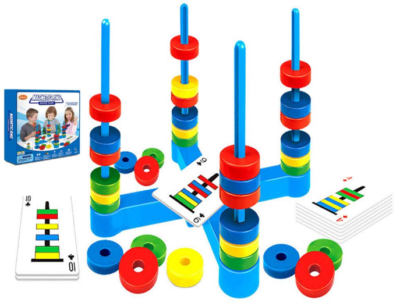 This is an image of girl's Magnetic puzzle game in colorful colors