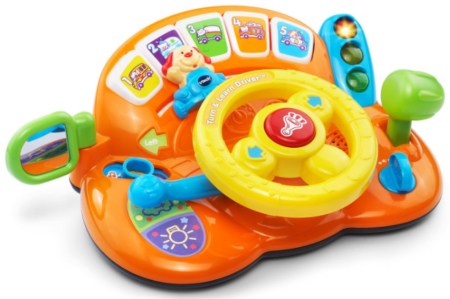 This is an image of toddler's driver toy in colorful colors