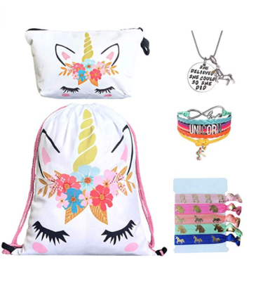 This is an image of a unicorn gifts set for girl by Doctor Uniform.