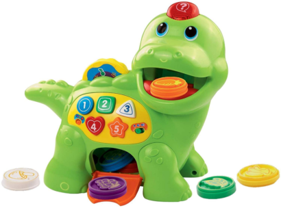 This is an image of toddler's VTech count dino toy by VTech in colorful colors