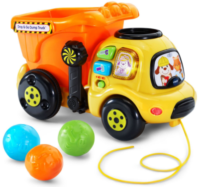 This is an image of toddler's truck toy by Vtech in colorful colors