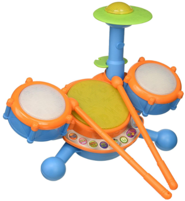 This is an image of toddler's drum set by Vtech in multi-colors