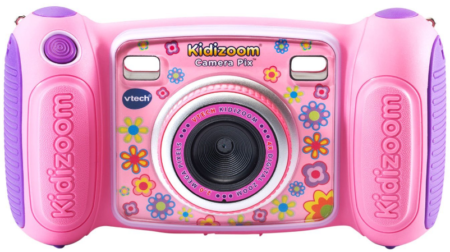 This is an image of kid's Kidizoom camera by VTech in pink color
