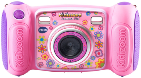 This is an image of kid's VTech Kidizoom in pink color