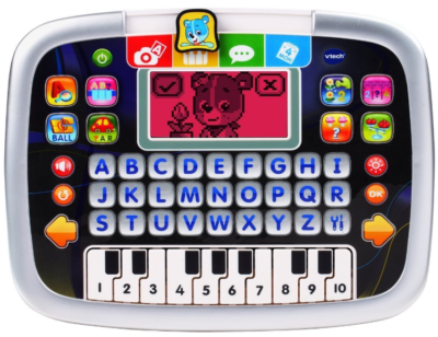 This is an image of kid's little apps tablet by VTech, gray color