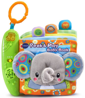 This is an image of kid's baby book toy by VTech in colorful colors