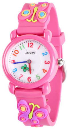 This is an image of kid's Waterproof watch in pink color