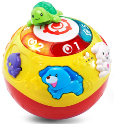 This is an image of kid's crawl ball in colorful colors